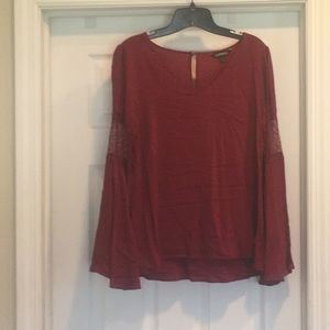 Express bell sleeve blouse
